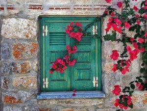 yeşil pencere
