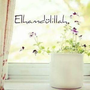 elhamdülillah ve çiçek